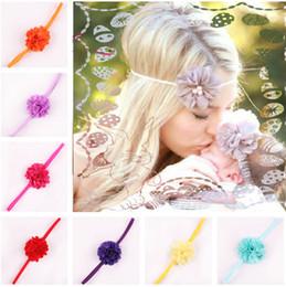 $enCountryForm.capitalKeyWord Australia - 17 Color Chiffon Flower hairband Hair Accessories Baby Girls Lace Headband Baby Infant girl Hair Weave band childern hair clips