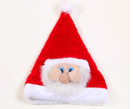 China Free shipping!Santa Claus Santa Claus mask cap exquisite face cap Christmas hats wholesale TY1628 cheap santa masks suppliers
