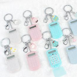 $enCountryForm.capitalKeyWord Australia - Fashion Cute Mini Pocket Calculator Keyring Key Chain Portable calculator Mixed Random Colors 17111705