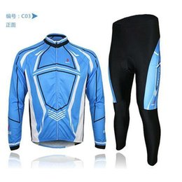 New Jersey Factory Canada - 2015 New Arrival Factory Arsuxeo mens cycling bike bicycle long sleeves jersey shirts pants wear suits uniforms top .3D BIB PADDED C