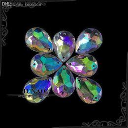 $enCountryForm.capitalKeyWord NZ - Wholesale-13*18mm Crystal AB Drop Rhinestone Buttons Sew On Acrylic Flatback Gems Crystal Stones Applique For Crafts Decorations 500pc