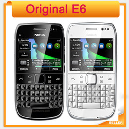 Wholesale russian qwerty mobile phones resale online - Original Nokia E6 G Touch screen Mobile Phone with QWERTY Russian Keyboard in Stock WIFI GPS Bluetooth Refurbished mobile phones