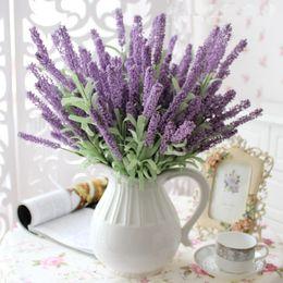 $enCountryForm.capitalKeyWord Canada - 11PCS LOT 12 heas pcs PE Romantic lavender artificial silk decorative table flower for wedding and home decoration Photo props