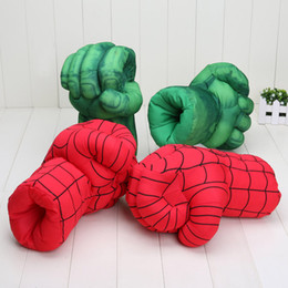 $enCountryForm.capitalKeyWord NZ - 10'' Hulk Smash Hands or Spider Man Plush Gloves Spiderman Performing Props Toys 2 Pairs   Lot
