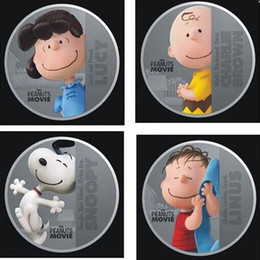 40pcs lot 10 set the peanuts movie hollywood cartoon snoopy lucy linus charlie brown anime silver plated souvenir coin set christmas gift - Snoopy Christmas Gifts