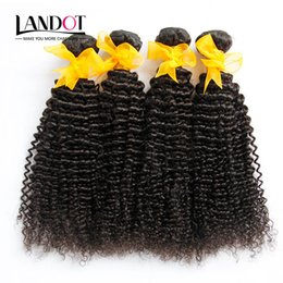 hair weave sizes Australia - 5Pcs Lot Malaysian Kinky Curly Virgin Hair With Closure 7A Unprocessed Deep Curl Human Hair Weaves 4Bundles And 1Pcs Lace Closures Size 4x4""
