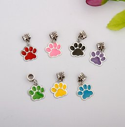 wholesale paw print Australia - New Hot Sale 50Pcs Lot Drop Glaze Dog Paw Prints Charm Pendant Accessorie Fashion Women Men Jewelry Wholesale Accessories Best Holiday Gifts