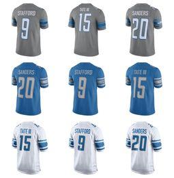 d6f873ee0 2017 Detroit Lion Jersey Elite 15 Golden Tate III 20 Barry Sanders 9  Matthew Stafford Shirts New Blue Cheap Mens Stitched Football Jerseys ...