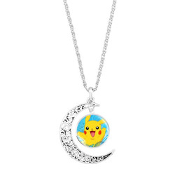 Discount party glasses chain - 2018 Hot sales Pikachu Time gem necklace glass Sweater chain Necklace men women Jewelry + Free shipping 415