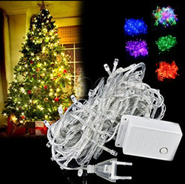 Discount decorative fancy lights - 10M 100 LED fancy ball Lights Decorative Christmas Party Festival Twinkle String Lamp garland 9 Colors Free Shipping