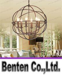 hardware chandelier 2019 - llfa236 RH Lighting Restoration Hardware Vintage Pendant Lamp FOUCAULT'S IRON ORB CHANDELIER RUSTIC IRON RH Loft li