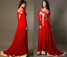 $enCountryForm.capitalKeyWord Canada - Muslim Evening Dress 2015 New Long Red Dress Gold Embroidery Robe De Soiree Dubai Kaftan Abaya In Dubai Chiffon Arabic Dress