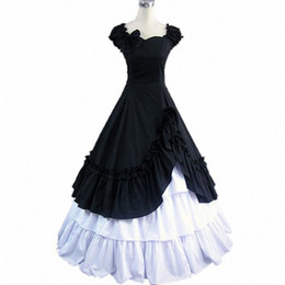 Victorian Costumes For Halloween Canada - Gothic lolita dress Halloween Costumes for Women Adult Victorian Dress Medieval Dress Southern Belle Costumes Fancy Dress Custom
