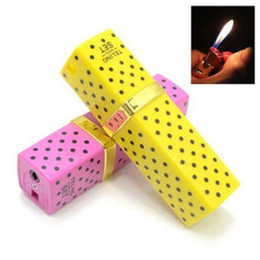 Chinese  Lipstick Shape Cigarette Lighter Butane Flame Gas Point Portable Lighter Butane Gas Lighter Lipstick Shaped Lovely Butane Cigarette Lighter manufacturers