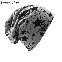 christmas tie designs 2019 - 2019 Brand Autumn And Winter Hats For Women Stars Design Ladies thin hat Skullies And Beanies Men Hat Unisex HT003 cheap