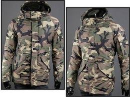 $enCountryForm.capitalKeyWord Canada - Fall-2015 Free Shipping Men Camouflage Drawstring Fit Warm Lapel Zip Up Long Sleeve Stand Collar Hoodie Pocket Coat Jacket