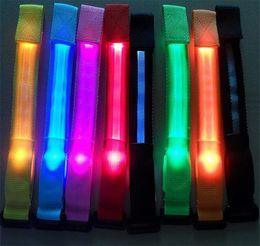 $enCountryForm.capitalKeyWord Canada - 500pcs HOT 8 colors Led luminous belt fiber optic luminous hand ring luminous strap led flash bracelet Cycling Safety Bracelets Lights D584