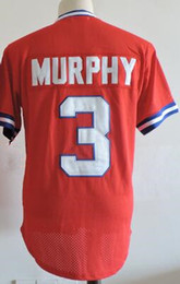 7ef53eafe Men s Throwback  3 Dale Murphy Jersey 1980 Authentic Red Pullover Mesh  Batting Practice Throwback M N Baseball Jerseys ...