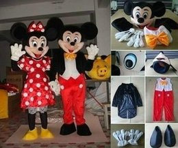 Barato Novo Minnie Mouse Trajes-2016 novo Venda Hot Adult Suit Tamanho Mickey Mouse e Minnie Mouse do traje da mascote