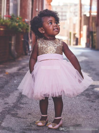 $enCountryForm.capitalKeyWord NZ - Baby Infant Toddler Birthday Party Pageant Dress Ball Gown Pink Tulle Big Bow Open Back 2018 Cheap Country Beach Wedding Flower Girl Dresses
