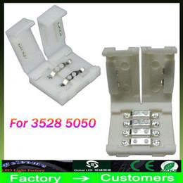Neueste LED-Streifenverbinder für 8mm 3528 und 10mm 5050 5630 smd einfarbig und 4-polige DC RGB 5050 LED-Streifen leuchten kein Schweißen