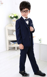 Royal Performance Suits Australia - The new children's suit boys dress costumes boy little suit piano performance 3 pieces (jacket + pants + vest) made to order