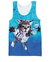 $enCountryForm.capitalKeyWord Canada - Sport Fashion Summer Style Vest Animal kitty Cat Cobain Tank Top Kurt Cobain's Nirvana Basketball Jersey Shirts For Women Men