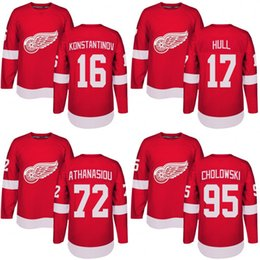cd22e882a Danny White Jersey Canada - Customized Mens 2017-2018 Detroit Red Wings 16  Vladimir Konstantinov