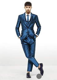 $enCountryForm.capitalKeyWord Canada - 2015 Hot Sale Free Shipping Fashion Blue Groom Tuxedos,Wedding Party Groomsman Suit Boys Suit (Jacket+Pants+Tie+Vest)