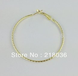Bohemian Clothing Patterns Canada - 100pcs Fashions Gold Plate Earrings Patterned Hoop Earrings 50mm For Girls Women Dress Brand Clothing Accessories M2409