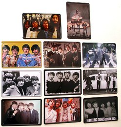coffee shops decoration NZ - lastest 20*30cm The Beatles classic band soft drink Tin Sign Coffee Shop Bar Restaurant Wall Art decoration Bar Metal Paintings