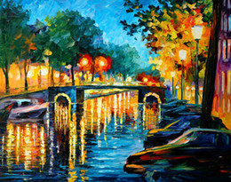 $enCountryForm.capitalKeyWord NZ - Free Shipping Hot Sell Modern Wall Painting Home Decorative Art Picture Paint Canvas Prints Color painting The trees Venice scenery Ship