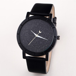 cool star designs NZ - New Watches Moon Stars Design Analog Wristwatch Women Girl Lady Unique Cool Gift Quartz Casual Fashion Watches