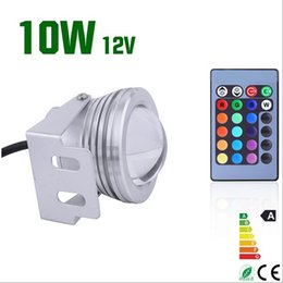 12v Underwater Lights Canada - 10W 12V RGB Led underwater Light Waterproof IP68 fountain pool Lamp 16 colors changing led Garden light Free express