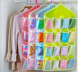 $enCountryForm.capitalKeyWord Canada - Underwear Socks Hanging Storage Bags Wall Wardrobe Pouch Sundries Accessories Organizer Cloth Bag Colorful 6 Patterns 16 Pockets 2015 New