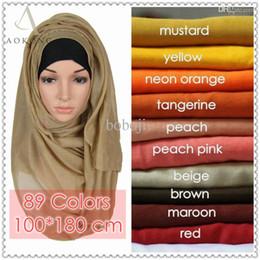 Cotton Viscose Scarves Australia - Wholesale-10pcs lot mixed solid plain hijab scarf fashion wraps foulard viscose cotton maxi shawls soft long islamic muslim scarves hijabs
