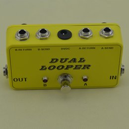 Wholesale 2 Effects Loop True Bypass Pedal True Bypass Looper Gitarre AB Yellow