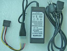 Sabit Disk Harici Güç Kaynağı 5 V 12 V Çift DC 4-Pin Molex Adaptörü + SATA güç bağlantı kablosu indirimde
