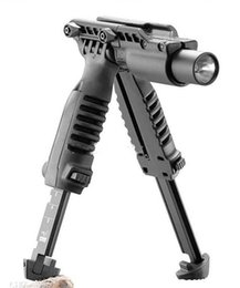 T mounT online shopping - T POD in Foregrip Bipod picattinny rail with torch mount Flashlight Light Holder for mm Rifle Black
