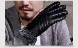 Leather Gloves For Men Australia - 2017 new fashion hot sale Rabbit fur Real lambskin Gloves skin gloves LEATHER GLOVES Warm for men Fashion