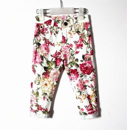Pants Lovely Canada - Retail Brand Baby&Girls spring style fashion flowers printing casaul long pants Children's autumn lovely sports Bottoms Clothing