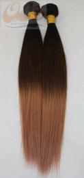 Sales Human Bulk Hair Canada - super bulk hair 100% Human Unprocessed human Hair Weft Extension hot sale Omber COLOR GS7719