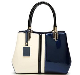 Patent Leather Handbags Bags Canada - 2017 new patent leather handbag simple Korean fashion all-match air personality bright shoulder hand bag