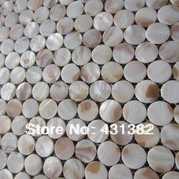 Decorative Freshwater Shell Mosaic Tiles Circular Mosaic Factory Direct Sale Shell Mosaic Bathroom Wall Tile Cheap Shell Mosaic Tiles