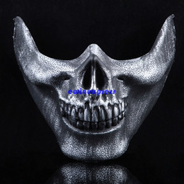 Skeleton Tactical Mask Canada - Tactical Military Skull Skeleton Half Face Mask Hunting Costume Party masquerade mask cs games cosplay props