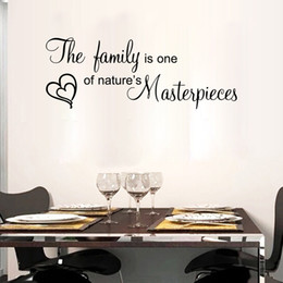 $enCountryForm.capitalKeyWord Canada - The family is one of nature's masterpieces wall quote decal stickers lettering heart balls wall art murals words art graphics