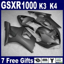 $enCountryForm.capitalKeyWord Canada - All matte black fairing kit FOR suzuki GSXR1000 2003 2004 K3 Brand new body kit GSXR 1000 03 04 free windscreen