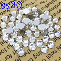 Pierres De Strass Lisses Pas Cher-Gros-1440 pcs / lot, SS20 Cristal brillant brillant Loose FlatBack Non Hot Fix strass cristal strass Nail Art colle sur cristaux Flatbacks