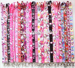 Wholesale DHL hello kitty lanyards for kid ID school card neck lanyard KEYS mobile strap lanyard mixed order