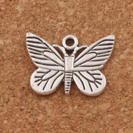 Alloy online shopping - Butterfly Chiricahua White Neophasia Charm Beads x16 mm Tibetan Silver Pendants Jewelry DIY L1127
